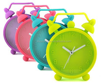 Big size twin bell silicone alarm clock ECO-Friendly