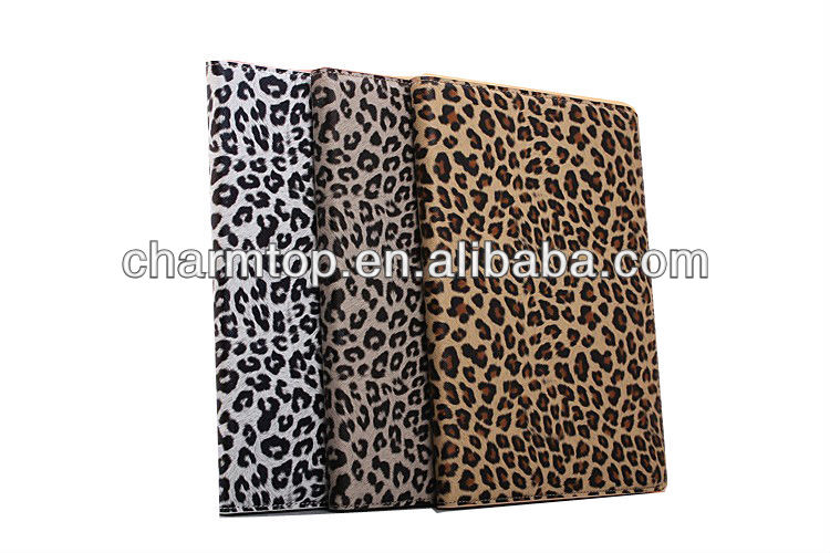 100% Brand New Leopard Leather Stand Case For iPad Air