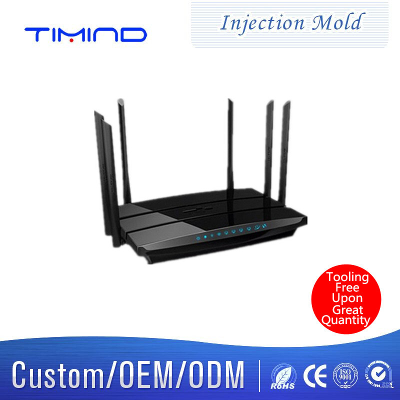 Timind Injection mould processing manufacturing Wireless router plastic mold custom processing