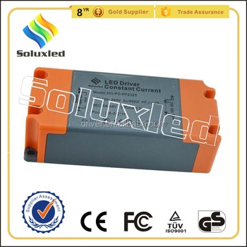 21W Constant Current LED Driver 300mA High PFC Non-stroboscopic With PC Cover For Indoor Lighting