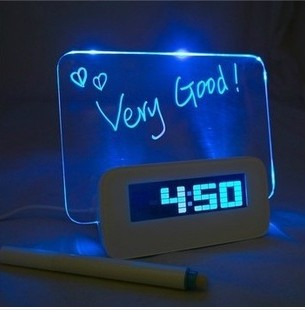 elegant shape high quality supply sell good alarm clock desk clock function more LED clock
