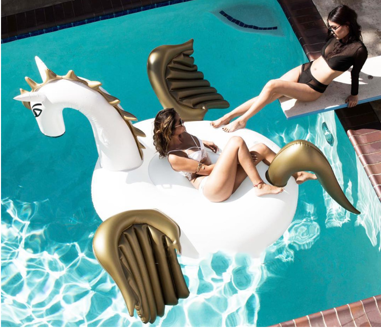 Pool Party for Swimming inflatable unicorn float