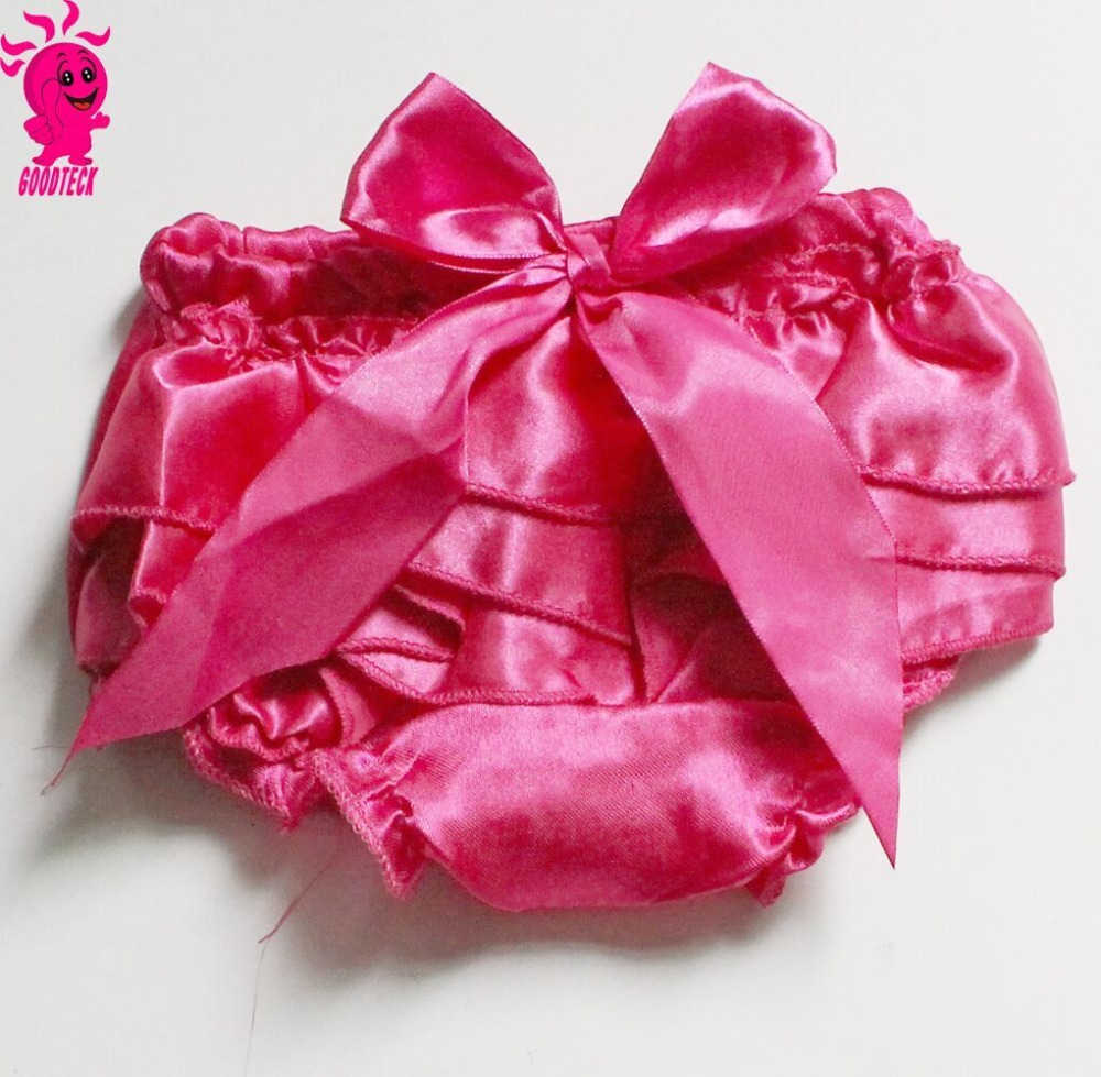 Wholesale baby clothes,hot sale new born infant pretty hot pink baby bloomer with bow