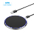 High end aluminum desktop Round wireless charger pad, 10W fast desk wireless charger with QI certification
