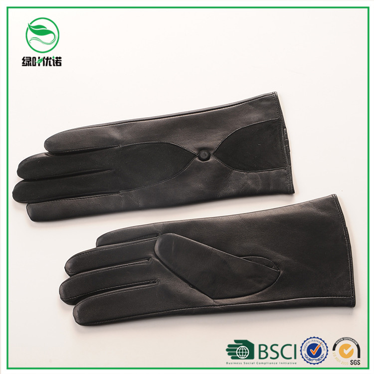 Wool lining womem wear ladies fashion genuine leather gloves