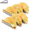 Taco Shell Holder Tortilla Stand Rack Stainless Steel baking Tray Holds 3Tacos