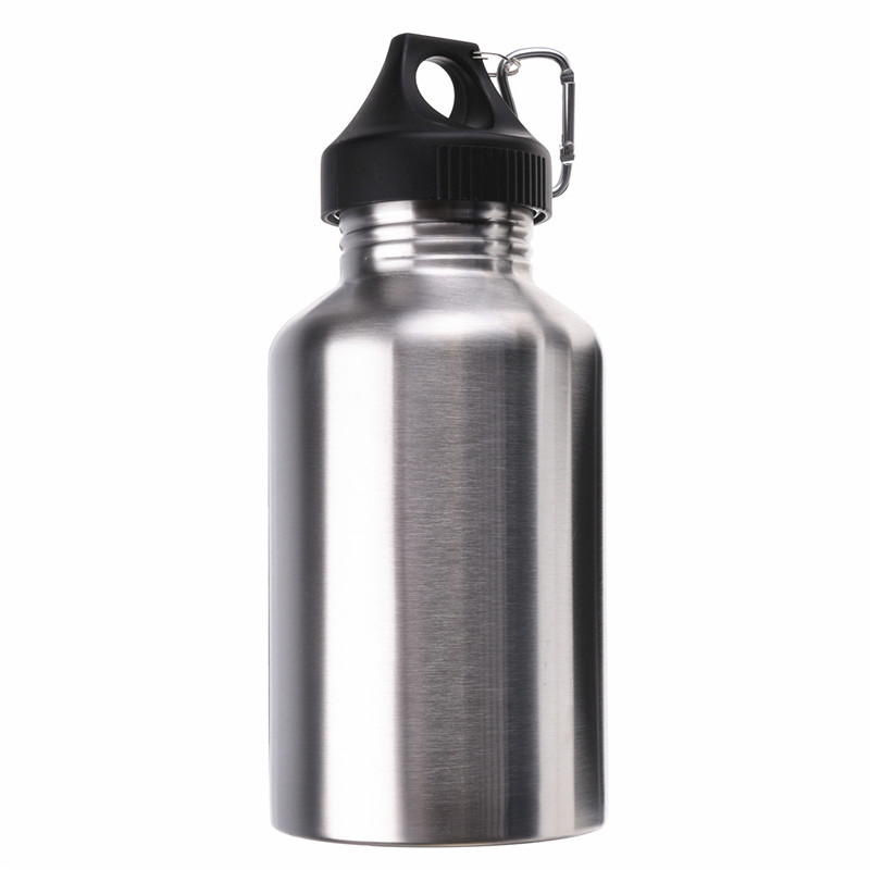 2000ML Lowest Price Stainless Steel Wide Mouth Water Bottle With Carry Outdoor Carabiner Sporting Water Bottle Water Cup