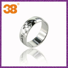 Wholesale 925 silver ring or 316l lady fine stainless steel ring