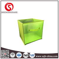 Foldable storage cube basket bin/closet organizer