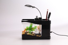 Guangzhou Manufactuer Creative Acrylic Desktop Mini Fish Aquarium