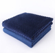 JinXi plain korean washable weighted blanket glass beads bamboo cool heavy weighted blanket minky cover