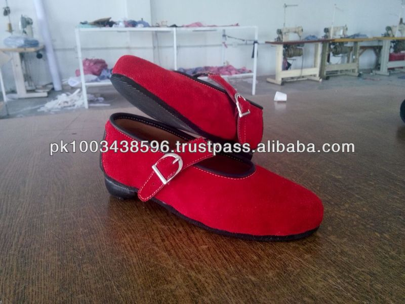 cheap price ladies shoes trachten shoes, cow suede leather lady shoes