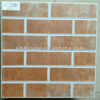 "red brick wall tile 12x12"" 30x30cm"