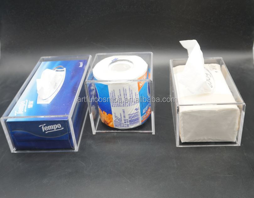 Clear Acrylic Suggestion Box With Sign Holder Clear Acrylic With Cotton Swab Tissue Box Holder Drawer