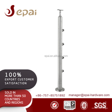 Epai SUS304 stainless steel stairway banister with pipe supports