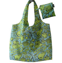 Full color gas sublimation printing green shopping bag SF21