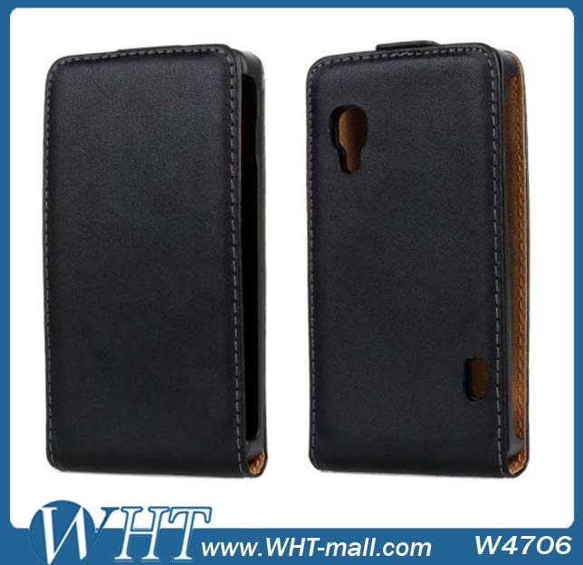 2014 Hot Sale Flip Leather Case For Lg Optimus L5 II E450 E460 Wholesale Supplier