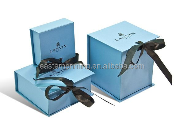 Cardboard Gif Box/Jewelry Box with Ribbon
