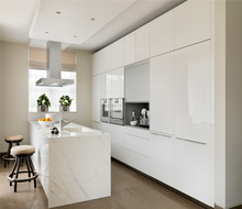 BS modular fitted White wooden kitchen