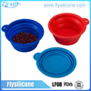 Dog Pet Food Silicone Collapsible foldable Travel & Drinking Water Bowl
