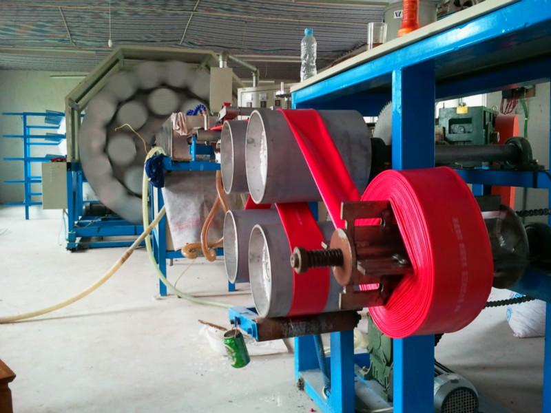 High Pressure PVC-Nitrile Rubber Layflat Hose production line