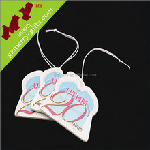 Personalized hanging car paper air freshener wholesale