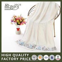 100%bamboo fiber luxury velvet face towel with lovely embroidery