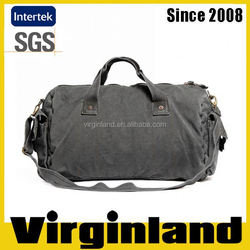 2015 new product Virginland 100% cotton vintage washed canvas duffel bag travel bag golf bag travel cover