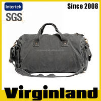 2016 new product Virginland 100% cotton vintage washed canvas duffel bag travel bag golf bag travel cover