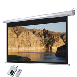 Wall Mount Motorized Projector Screen / High Ceiling Hanging Projector Screen
