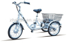 "20"" 36v250w adult 3 wheel electric bicycle cargo A2-3 aluminum alloy frame"