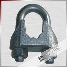 DIN741 Cable Wire Adjustable Rope Steel Loop Thimble And Clamp For Wire Rope Electrical Ing Method Tool