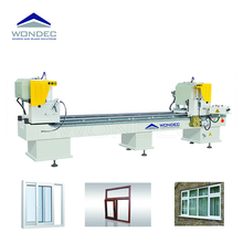 High Efficiency PVC Profiles Double Head Cutting Saw Machine for PVC Door Window Making