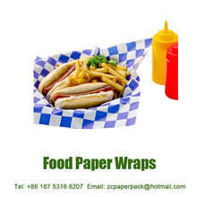 Greaseproof Fast Food Paper Wraps for Fried Chicken Fries