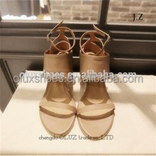 OS11 women Pretty Steps high heel cross strap sandal made in China