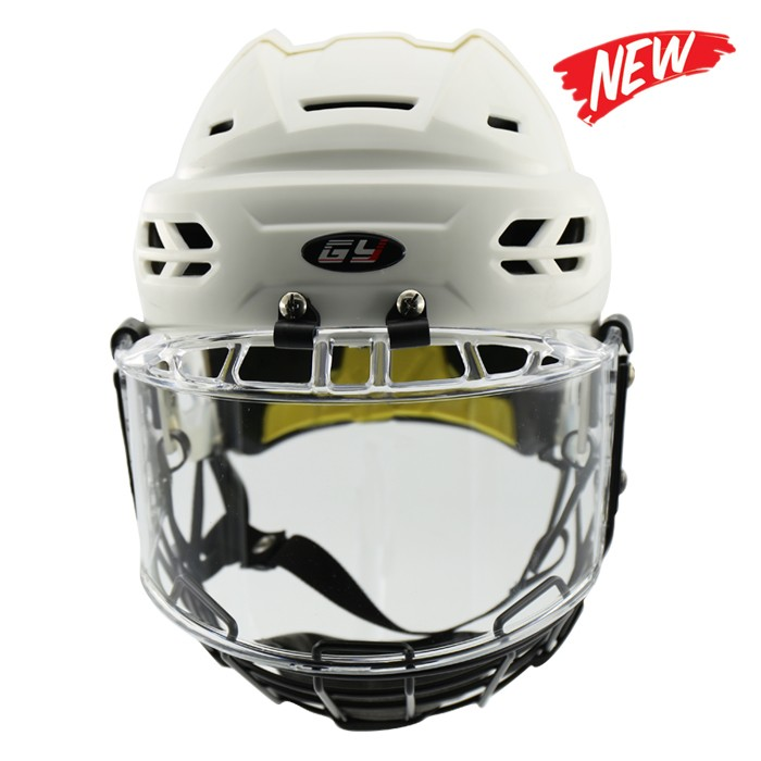 PP Outshell And EPP+PU Liner New Design Ice Hockey Helmet With Visor /Cage