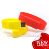 custom color rubber wristband usb flash drive promotional gifts