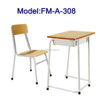 No.FM-A-308 Modern school desk and chair