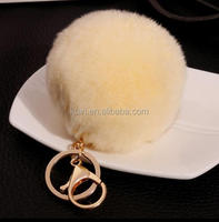 rex rabbit fur handmade keyrings