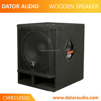 "OEM & ODM supplier big party passive subwoofer wooden speaker 18"" 600w wooden speaker box"