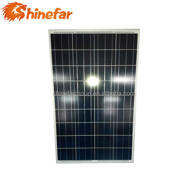 21.6V Open circuit voltage 1070x670x30 mm size 100w small size solar panel