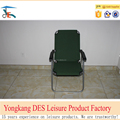 Heavy steel folding beach chair from factory