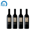 Paper adhesive sticker for red wine