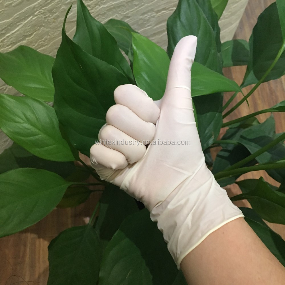 AQL 1.5 disposable latex glove, non sterile gloves latex, high quality latex examination gloves