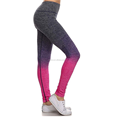 Ladies gradient color sexy seamless yoga pant