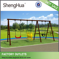 Children interested plastic swing set and outdoor slide for sale