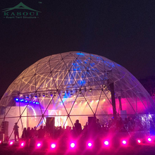 China Supplier Yurt Shelter Luxury Round Concert 30M Geodesic Dome Carpas Clear Wedding Party Tent