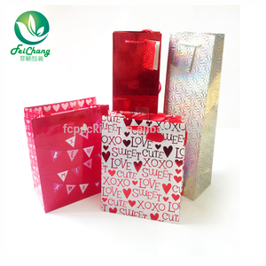 Full Color Custom Printed High Quality wine bag in box bottle paper gift box