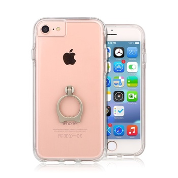 TPU Clear Cell Phone Case/Cover For iPhone 7 With Finger Ring