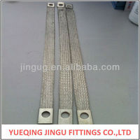 JINGU flexible conductive flat copper braided jumper